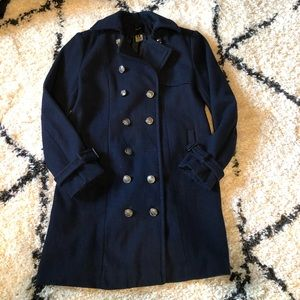 Forever 21 Pea Coat Navy